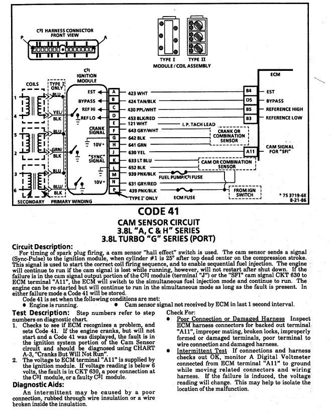cam sensor wiring harness problem need direction turbobuicks com rh turbobuicks com Fuel Pump Wiring Harness Diagram Fuel System Wiring Diagram