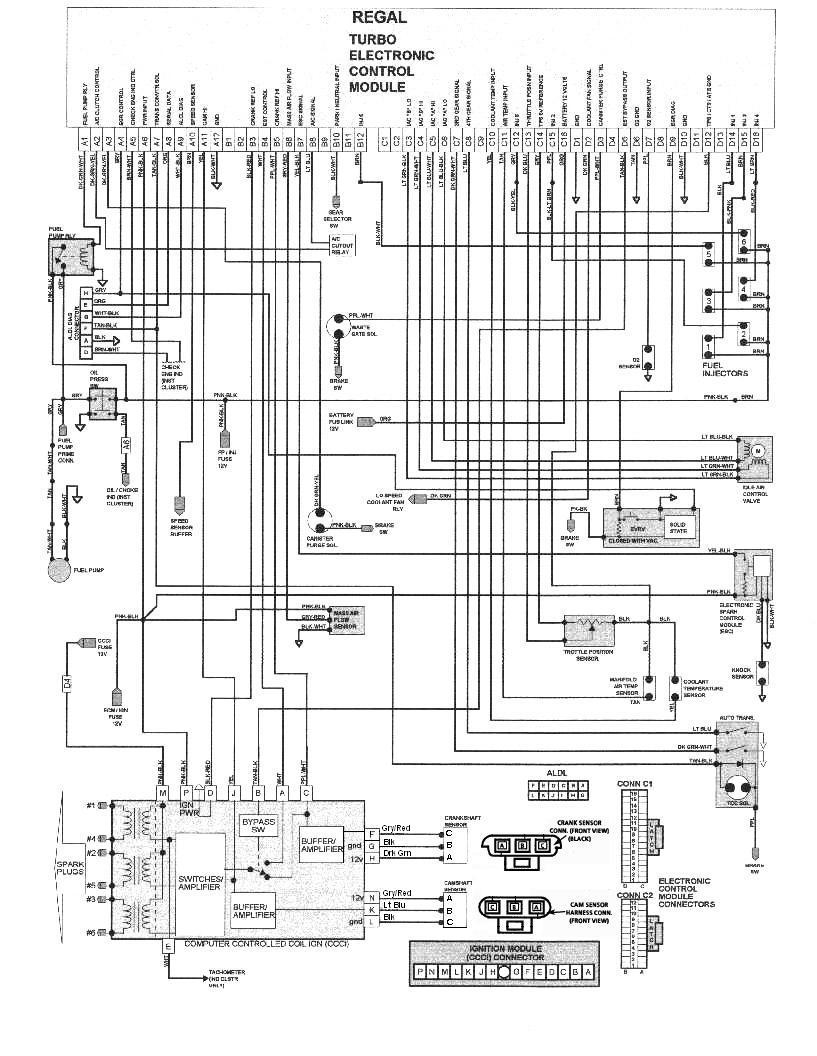 need a good wiring diagram for the ign turbobuicks com need good wiring diagram ign regal ecm corrected jpg